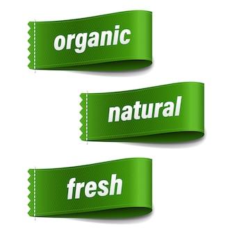 Set mit bio-etiketten