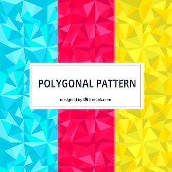 Set mit bunten polygonale muster