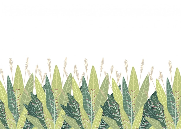 Set mit floralen elementen und blättern. dekorative elemente für ihre blätter wirbeln blumenstil illustration