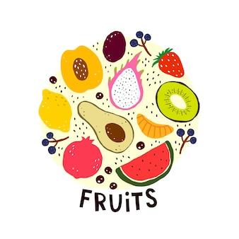 Set mit früchten