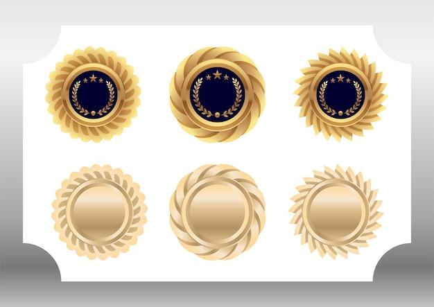 Set mit goldmedaillen-taschen