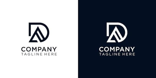 Set mit kreativem monogramm-buchstaben-da-logo-design