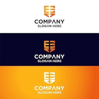 Set mit monogramm-logo-premium