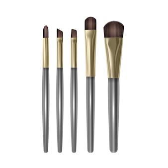 Set mit professionellen make-up-pinseln für eyeshadow brow brushes