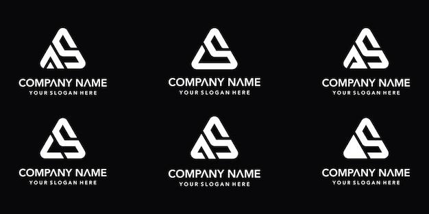 Set mit verschiedenen as-logo-vorlagen