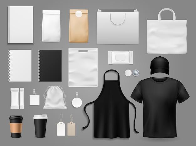 Set mit verschiedenen barrista-accessoires