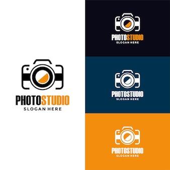 Set mit vintage-fotografie-abzeichen oder logos