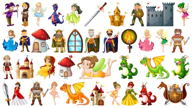 Set mittelalterlichen charakters