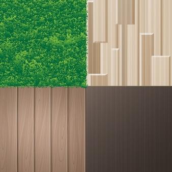 Set natürlicher texturen für das interieur im ökologisch-minimalistischen stil