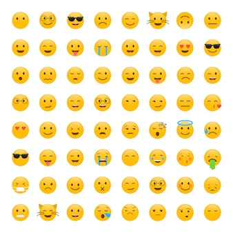 Set nette smiley emoticons