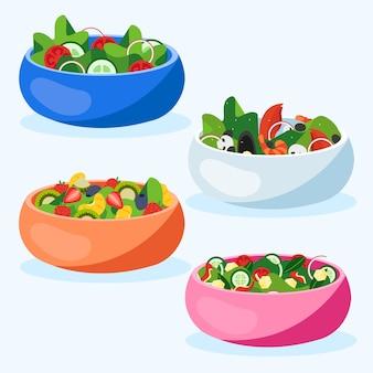 Set obst- und salatschüsseln