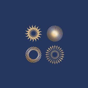 Set ornament luxus logo vorlage