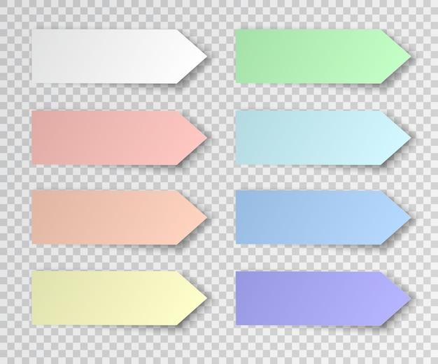 Set papieraufkleber
