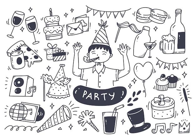 Set party doodle und zubehör
