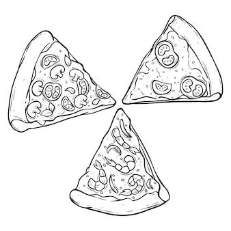 Set pizza scheibe