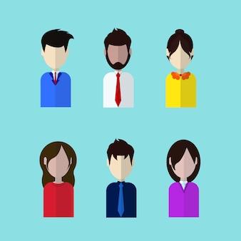 Set profil-ikonen-männliche und weibliche avatarasammlung