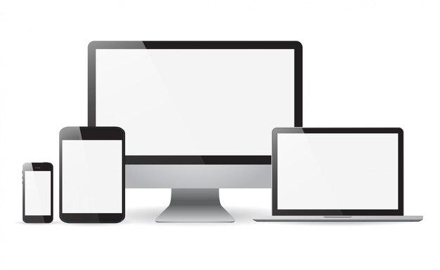 Set realistisch von monitoren
