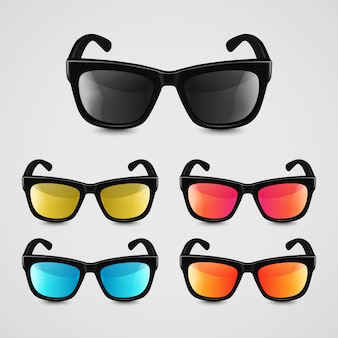 Set realistische sonnenbrillen