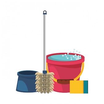 Set reinigungsgeräte und -produkte
