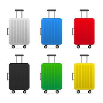 Set reisetasche aus kunststoff