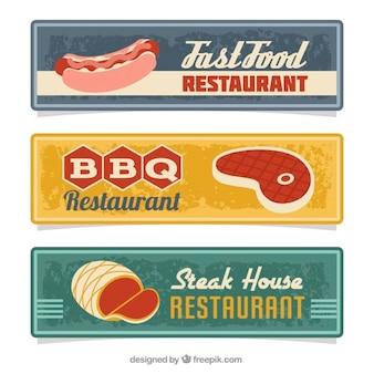Set restaurant und einen grill banner