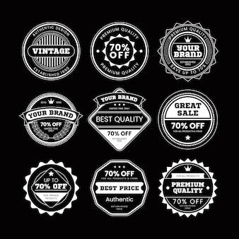 Set retro vintage abzeichen und etikett