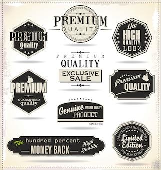 Set Retro Vintage Etiketten