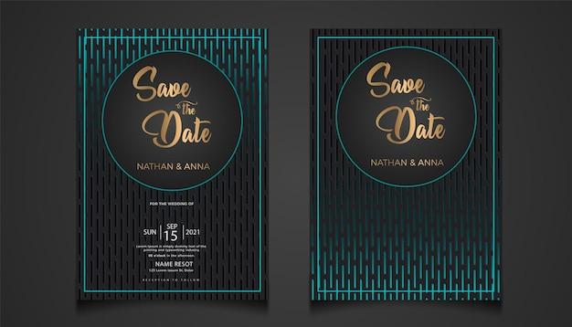 Set sammlung luxus moderne hochzeitseinladungskartenvorlage