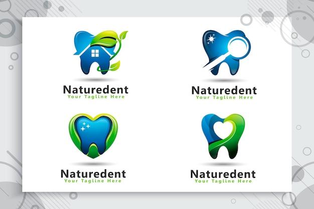 Set sammlung von dental care logo