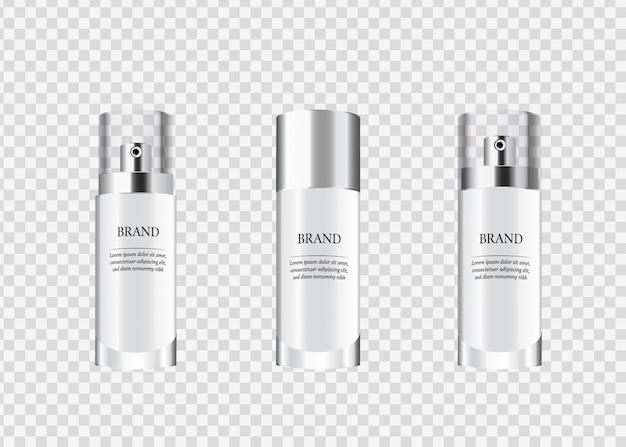 Set, sammlung von kosmetischen glasverpackungen.