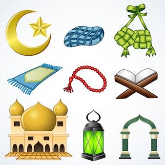 Set sammlung von ramadan-element