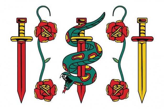 Set schöne emblem aufkleber