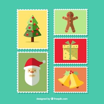 Set schöne weihnachtsstempel