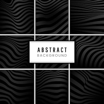 Set schwarze abstrakte hintergrundvektoren