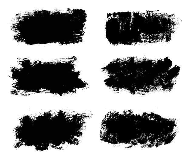 Set schwarze pinselstriche