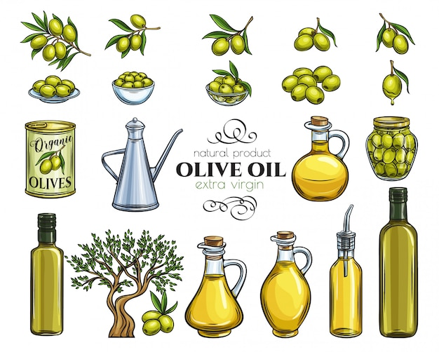 Set skizze olivenöl