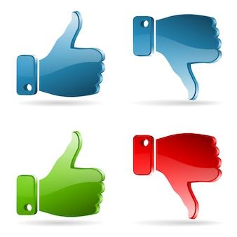 Set social media aufkleber