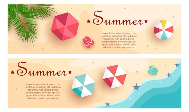 Set sommer-geschenkgutscheine. ungewöhnliches design des gutscheins für einladung, geschenkkarte und zertifikat.