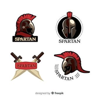 Set spartanische abzeichen