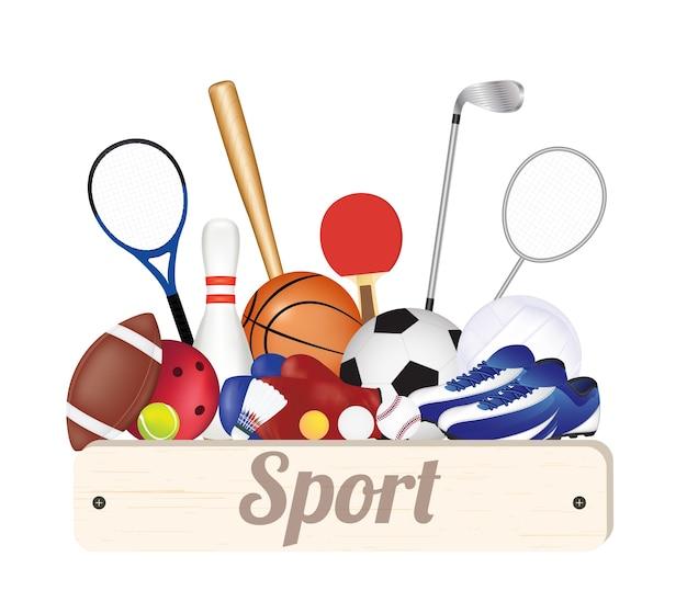 Set sportausrüstung