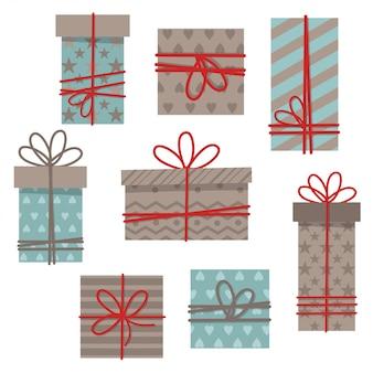 Set stilisierte geschenke