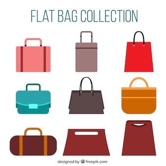 Set stilvolle handtaschen