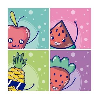 Set süße früchte