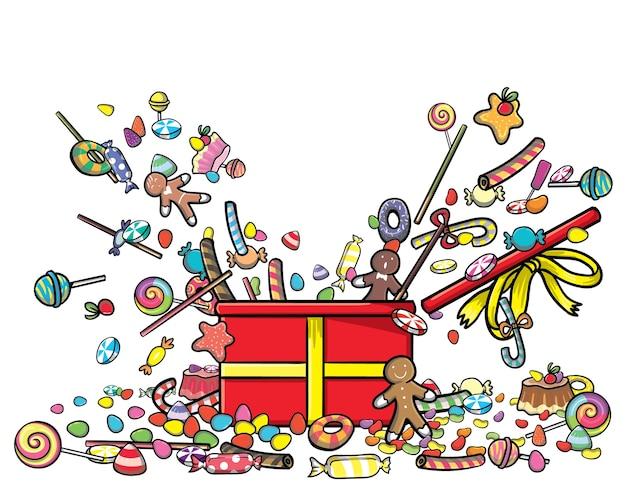 Set süßigkeiten