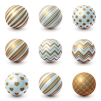 Set textur ball