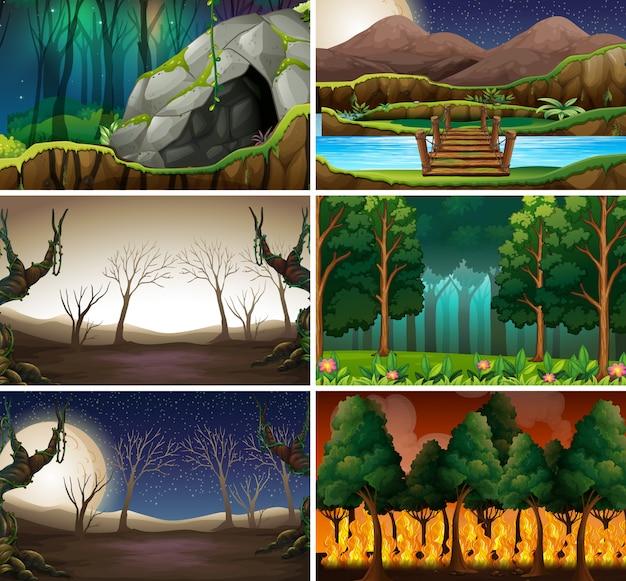 Set unterschiedliche naturszene