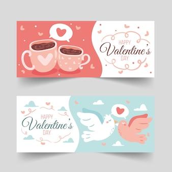 Set valentinstagfahnen