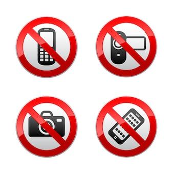 Set verbotene zeichen - gadget