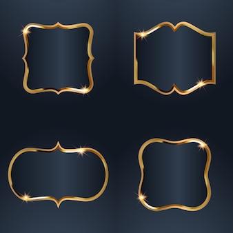Set verkauf goldenes rahmenabzeichen