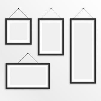 Set verschiedene größen, die fotorahmen hängen